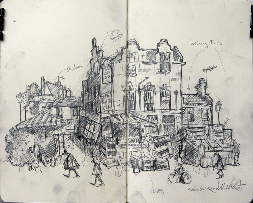Drawing of Columbia Road