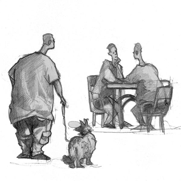 Man_dog_cafe