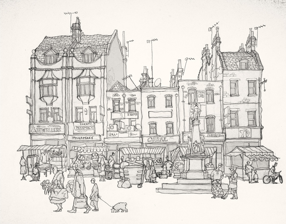 Drawing of the Whitechapel Road