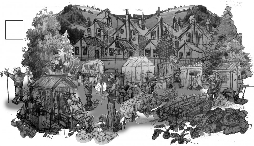 Drawing of an Allotment
