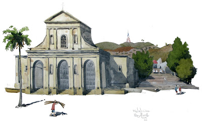 waterolour painting of Trinidad cuba
