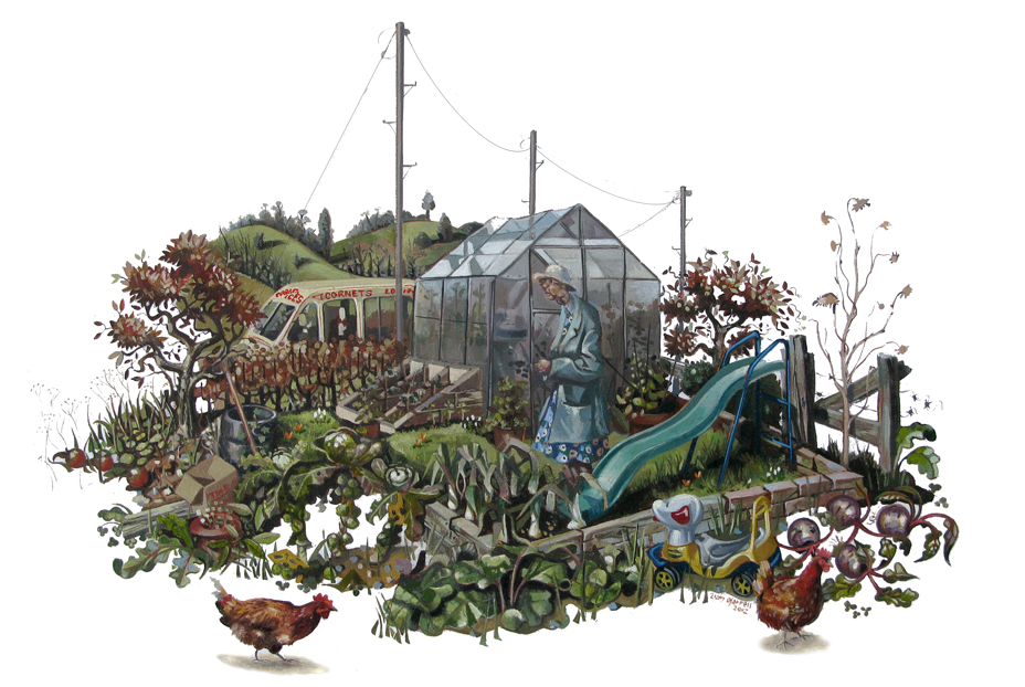 allotment oil painting