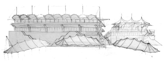 drawing of Architectual details of the stands