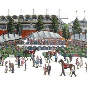 Glorious Goodwood Racecourse painting