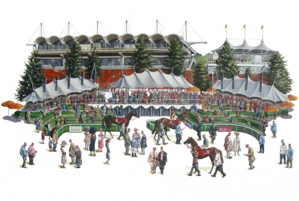 Glorious Goodwood Racecourse painting