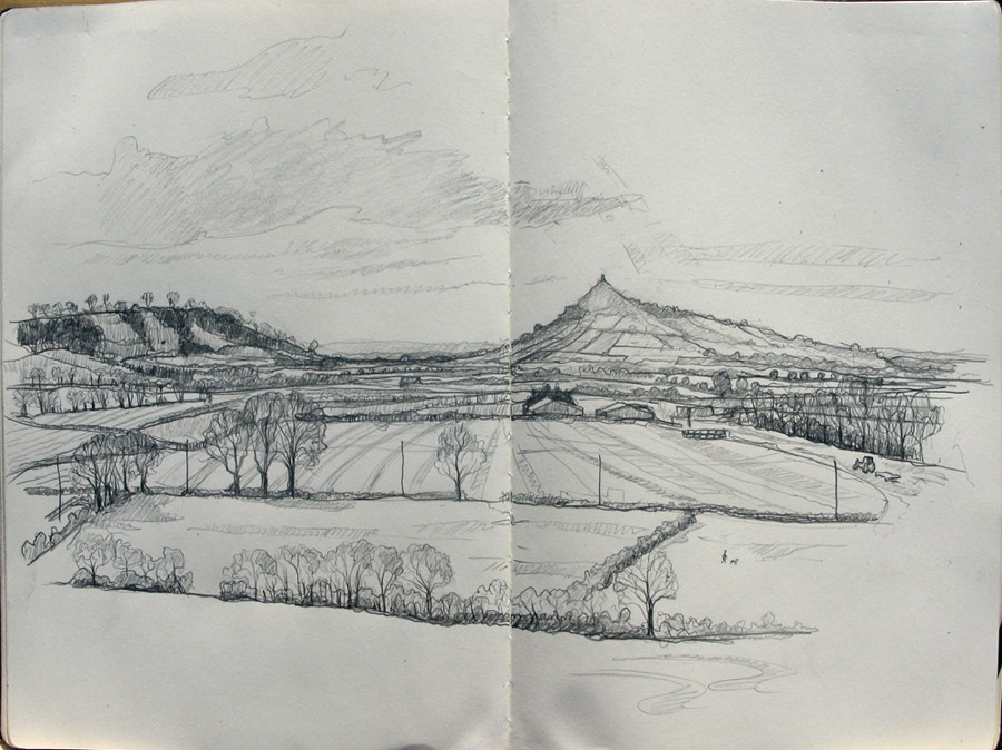 Glastonbury Tor drawing