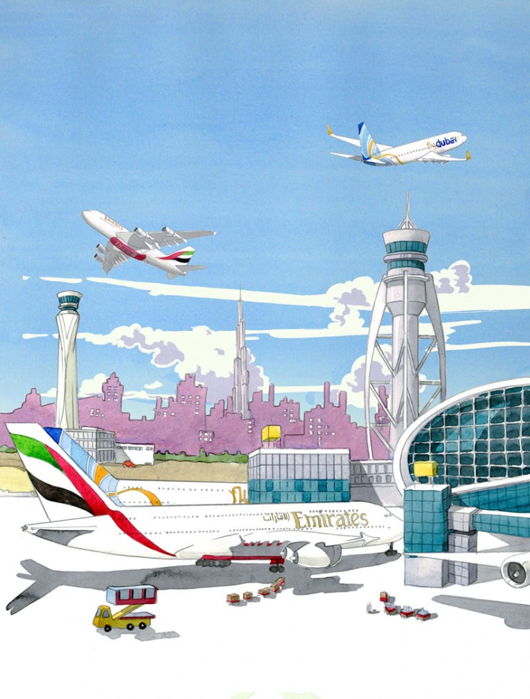 Dubai Airports illustration