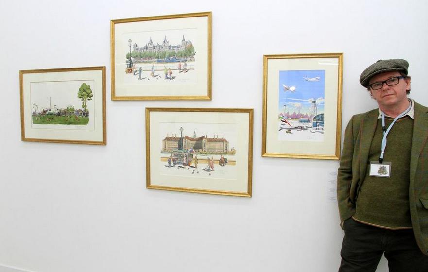 Liam at art show