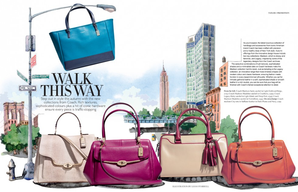 Tatler Magazine illustration in watecolour of New York