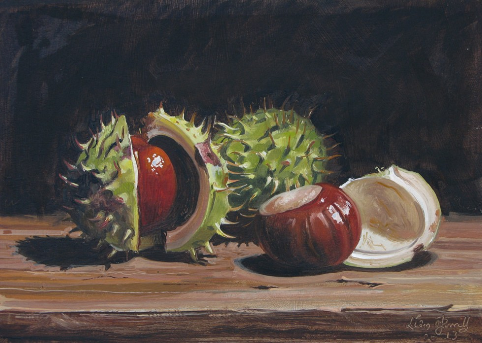 Oil painting of Conkers