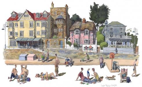 A painting of Lyme Regis, Dorset
