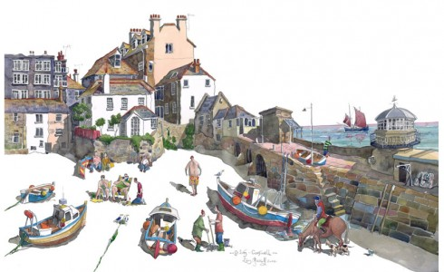 Painting of St Ives, Cornwall