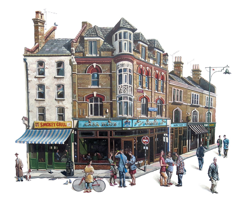 Brick lane oil painting London