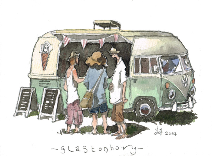 Painting of a Volkswagon Bus