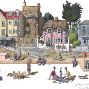 Lyme Regis Painting