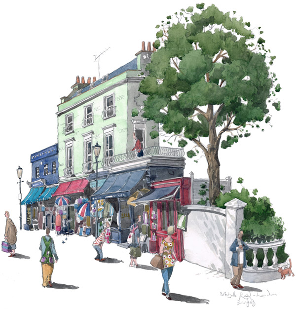 Painting fo Portobello Road