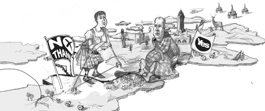 Scottish indipendence drawing