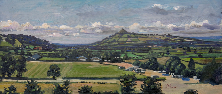 Painting of Glastonbury Tor