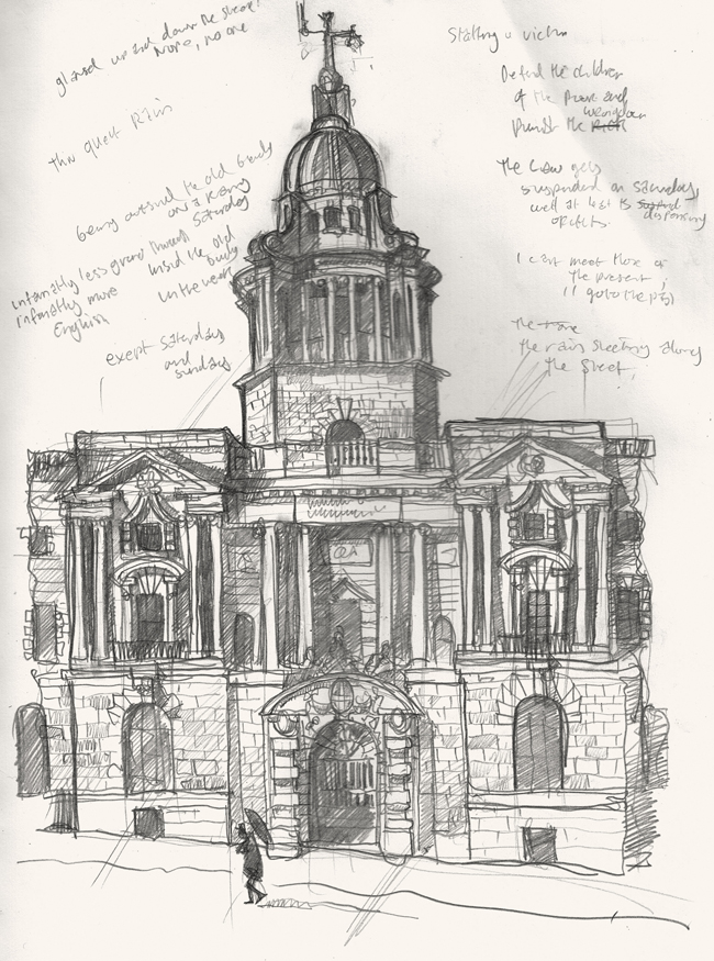 Drawing of the Old Bailey