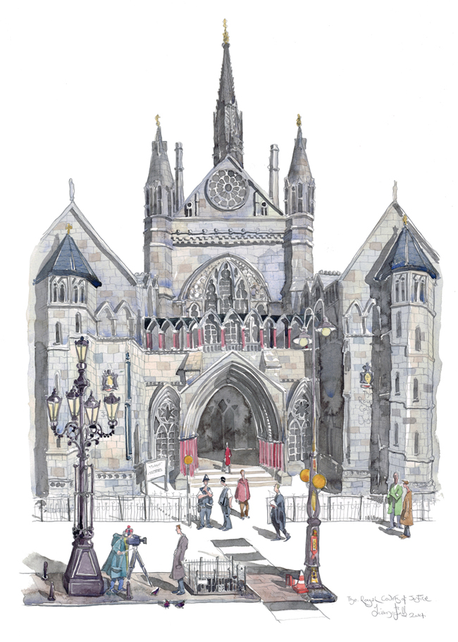 Painting of the Royal Courts of Justice