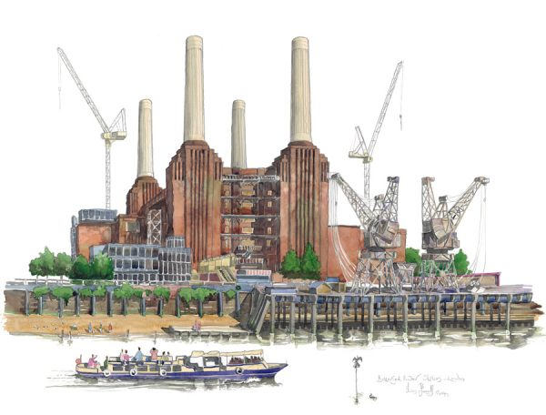 Painting of Battersea Power Station