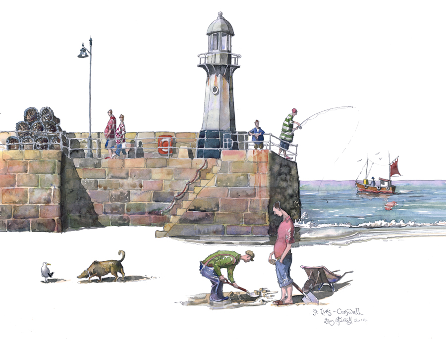 st ives diggers painting