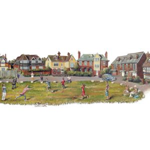 a painting of Dymchurch