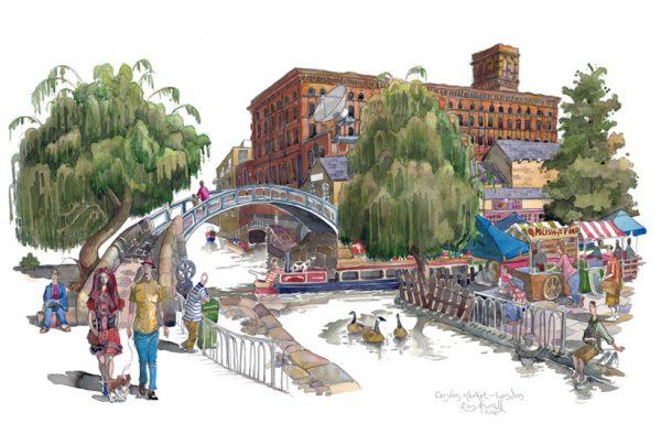 Painting of Camden Market