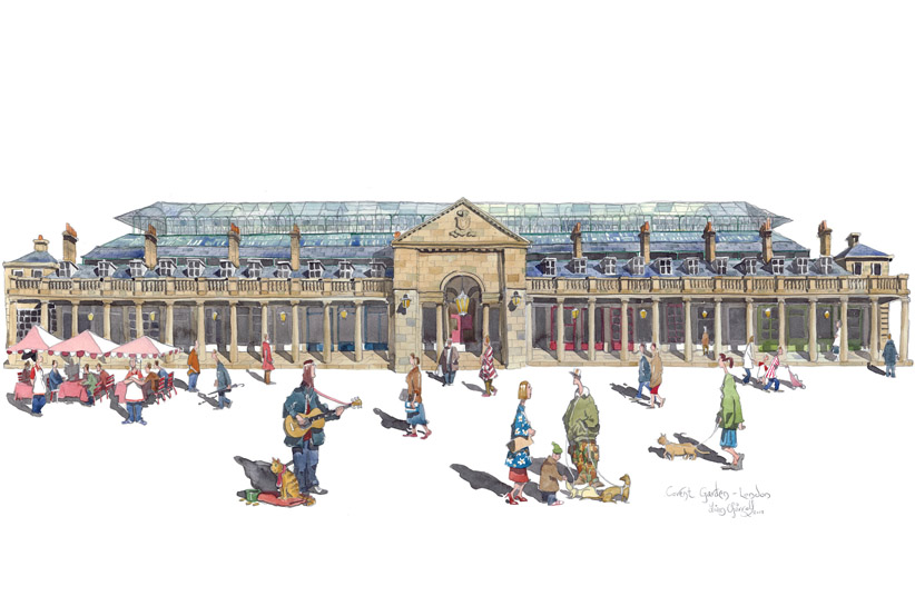 a painting of Covent Garden Market