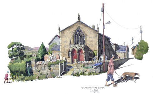 Paitning of Pilton Methodist Church