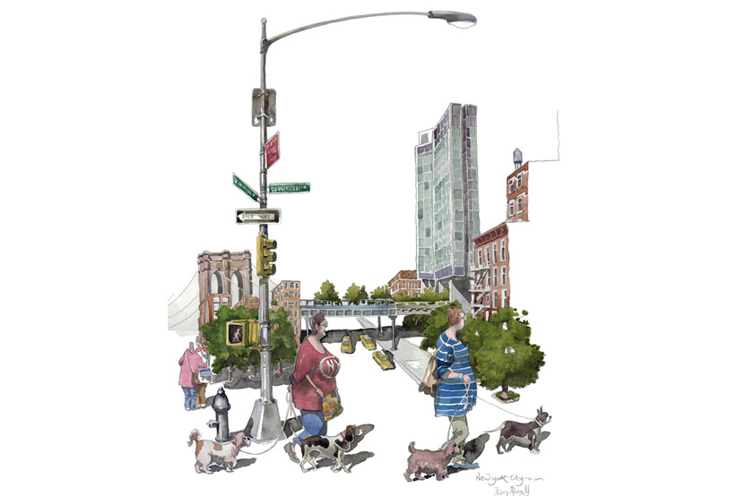 a painting of New York City