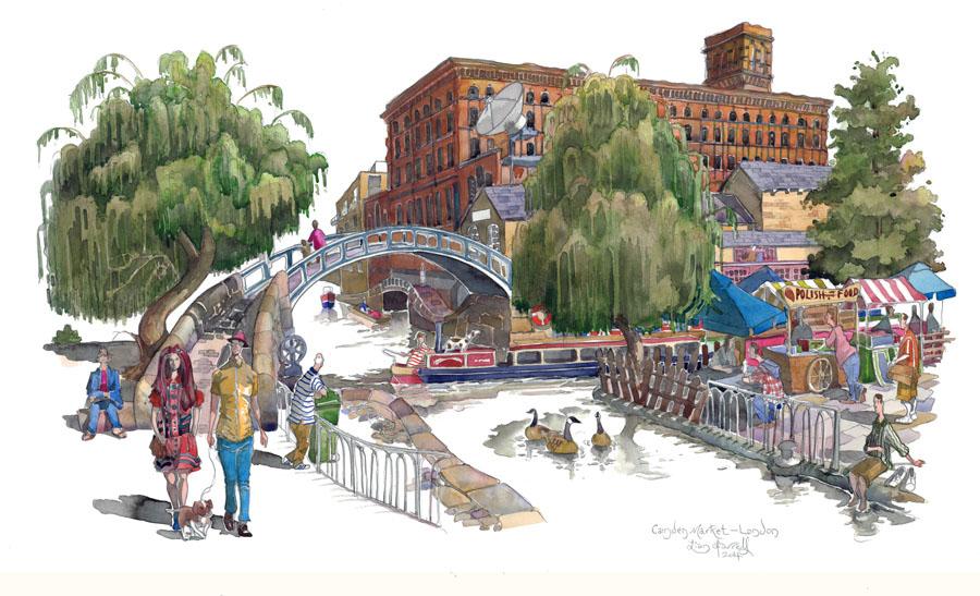 Camden Market painting