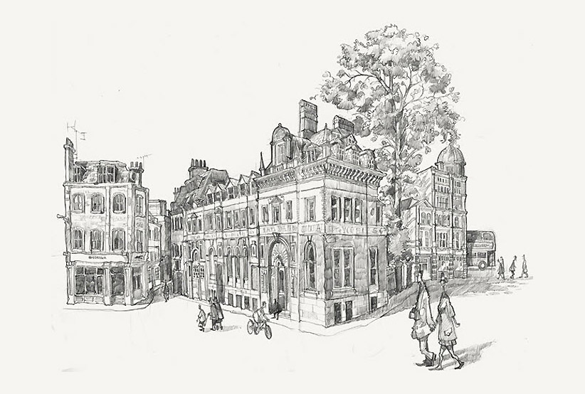 A drawing of St Paul's Old Choir School