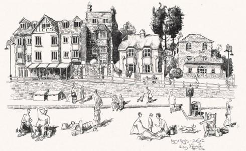 A drawing of Lyme Regis, Dorset
