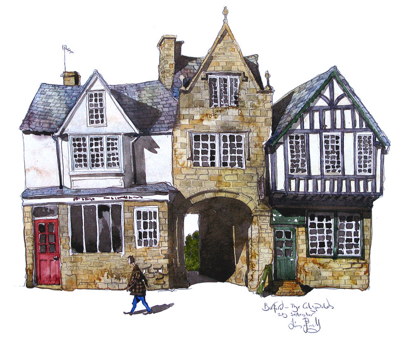 a painting of Burford