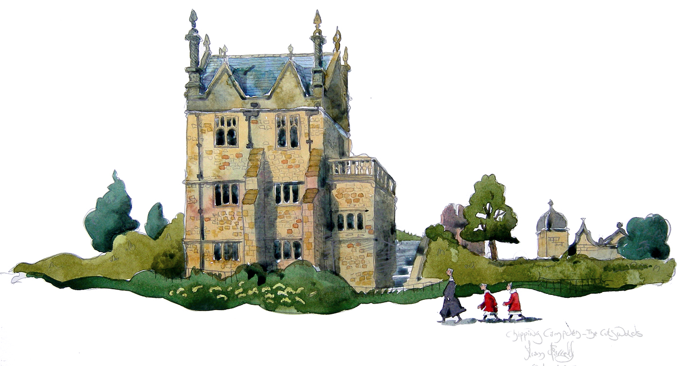 a painting of  Chipping Campden