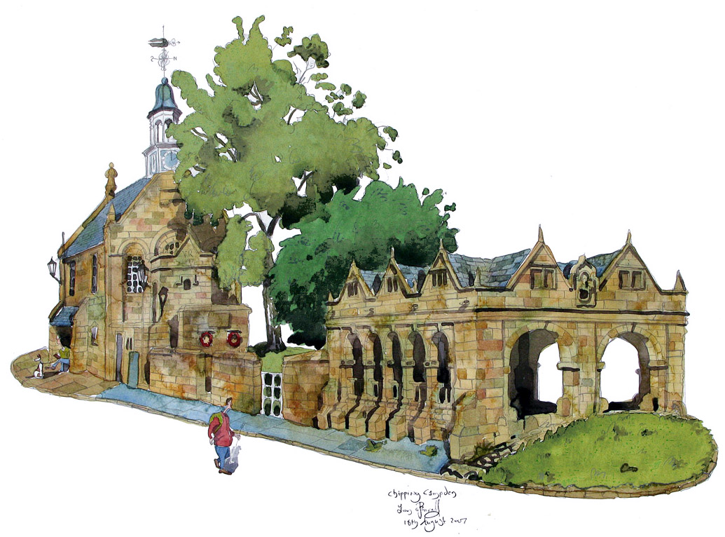 a painting of  Chipping Campden art
