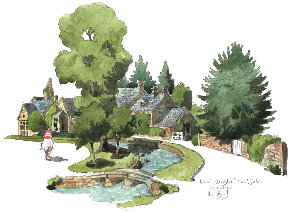 a painting of   Lower slaughter