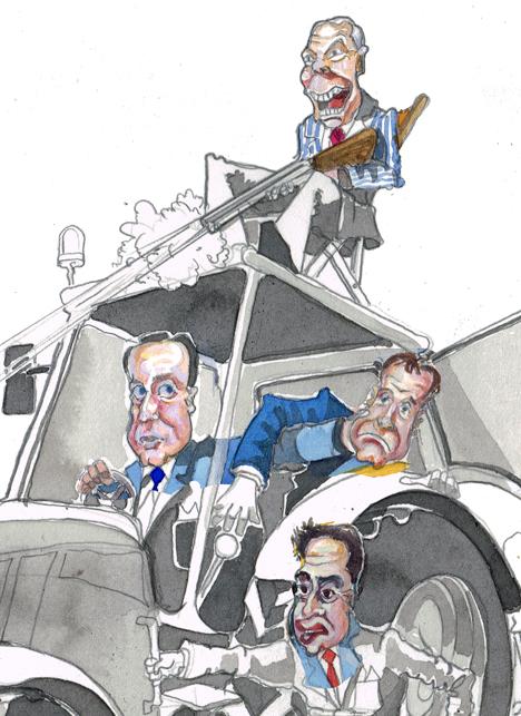 Detail of a political cartoon