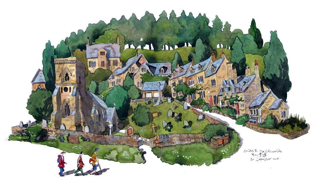 a painting of Snowshill