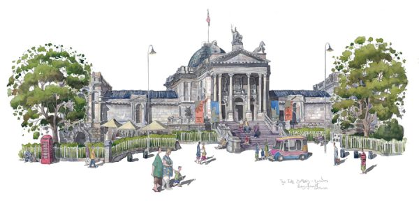 Painting of the Tate Britain