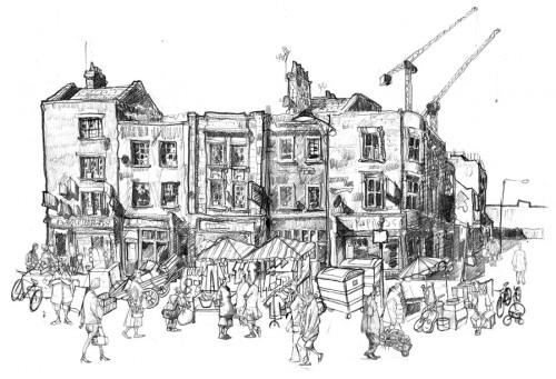brick lane drawing art