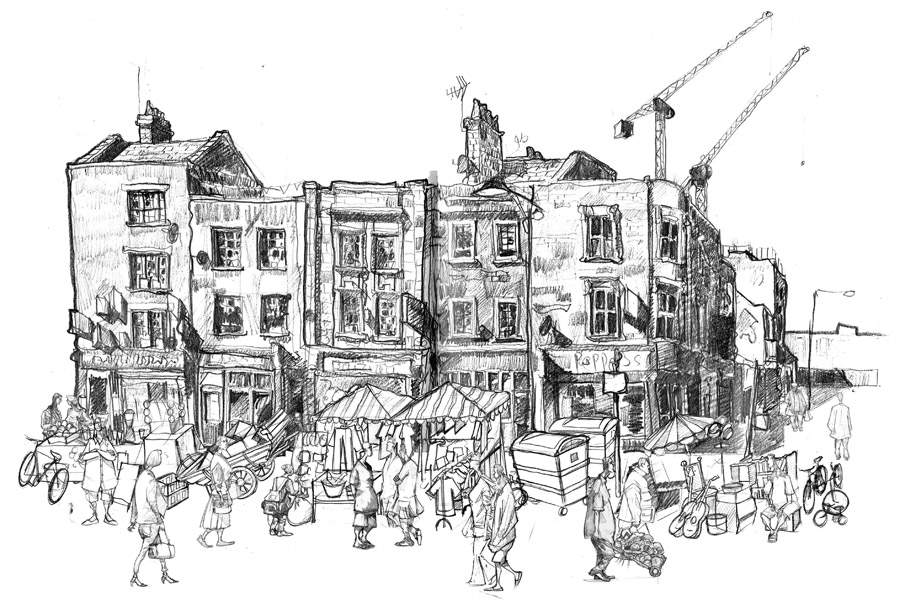 brick lane drawing art