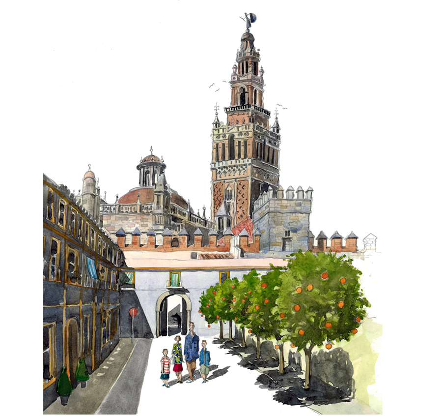 A painting of Seville, Spain