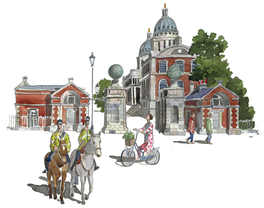 A painting of Old Royal Naval College