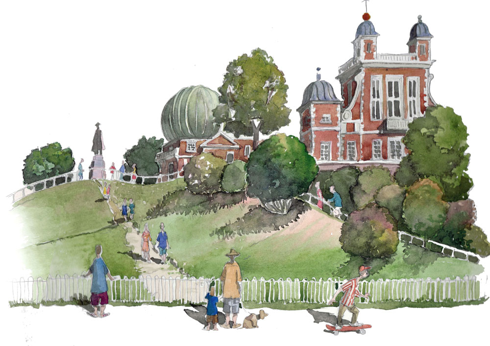 A painting of The Greenwich observatory