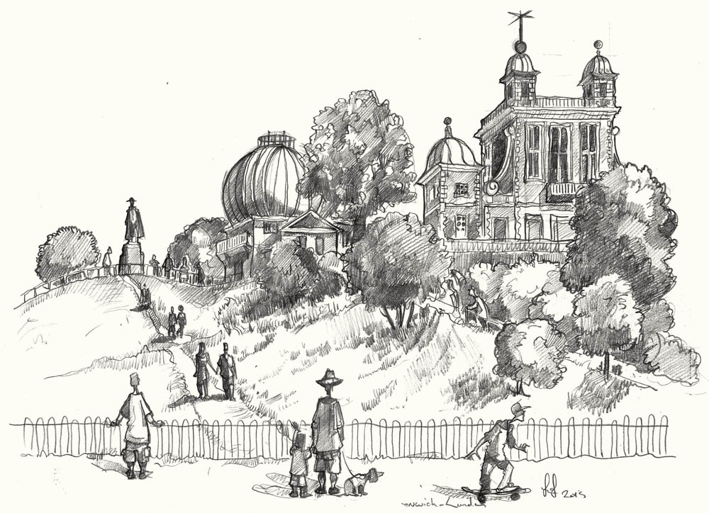 Drawing of the Greenwich Observatory