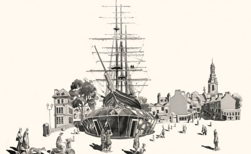 Drawing of the Cutty Sark