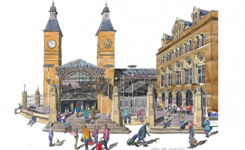 Painting of Liverpool St Station