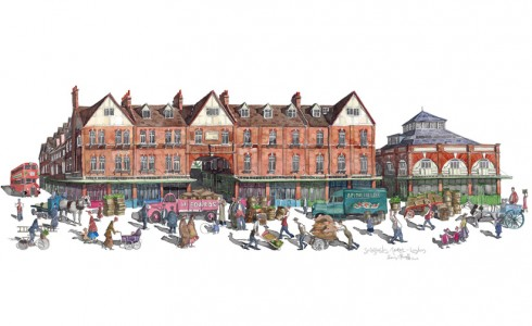 Painting of Spitalfields Market